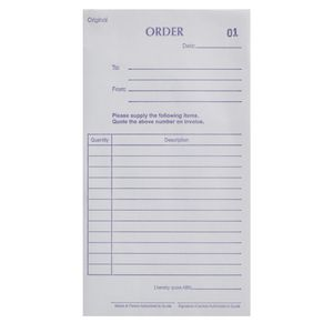 Olympic No.738 Carbonless Duplicate Order Book
