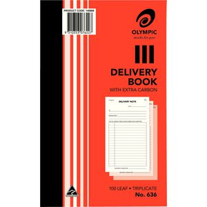 Olympic No.636 Carbon Triplicate Delivery Book