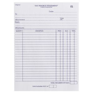 Olympic No.726 Carbonless Duplicate Invoice/Statement Book