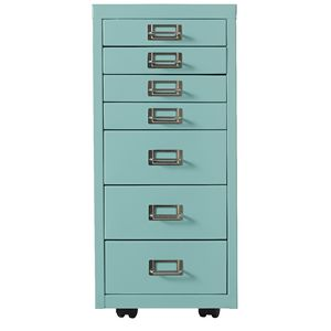 Spencer 7 Drawer Cabinet Aqua