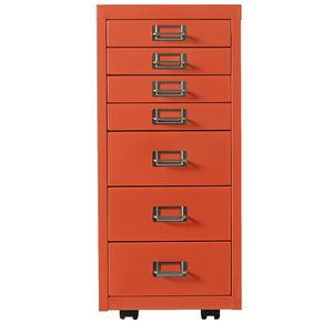 Spencer 7 Drawer Cabinet Orange