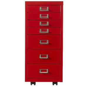 Spencer 7 Drawer Cabinet Red