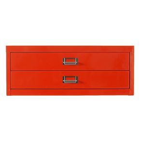 Spencer 2 Drawer Cabinet A3 Orange