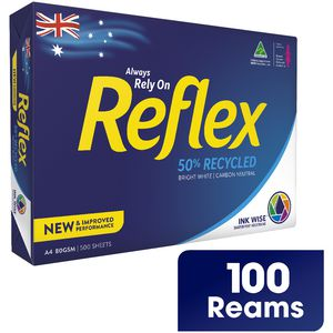 Reflex 50% Recycled 80gsm A4 Copy Paper Pallet