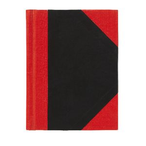 Spirax A7 Red and Black Notebook 200 Page