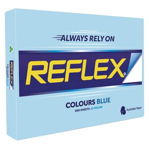 Reflex Colours 80gsm A3 Copy Paper Blue 500 Sheets