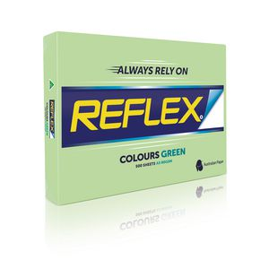 Reflex Colours 80gsm A3 Copy Paper Green 500 Sheets