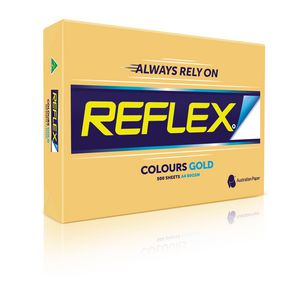 Reflex Colours 80gsm A4 Copy Paper Gold 500 Sheets at Officeworks in Campbellfield, VIC | Tuggl