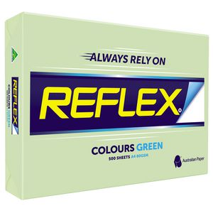 Reflex Colours 80gsm A4 Copy Paper Green 500 Sheets