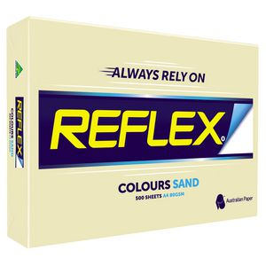 Reflex Colours 80gsm A4 Copy Paper Sand 500 Sheets