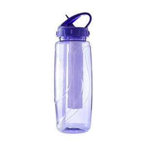 Tri Sipper Drink Bottle Includes Chill Stick 600mL Purple