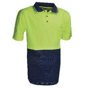 Unisafe High Visibility Polo Shirt M Yellow and Navy