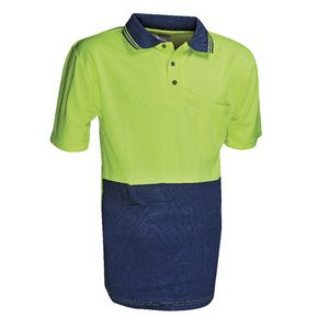 Unisafe High Visibility Polo Shirt L Yellow and Navy