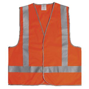 Unisafe Hi-Vis Safety Vest Day and Night Orange Large
