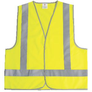 Unisafe Hi-Vis Safety Vest Day and Night Lime Large