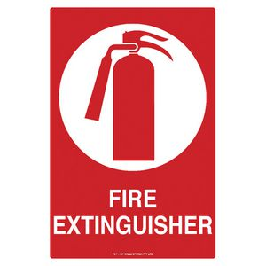 Mills Display Fire Extinguisher Sign 300 x 450mm