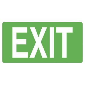 Mills Display Exit Sign 350 x 180 mm