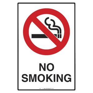 Mills Display No Smoking Sign 300 x 450mm