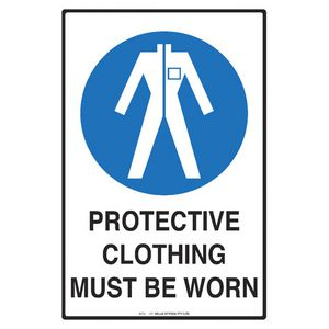 Mills Display Protective Clothing Sign 300 x 450