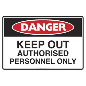 Mills Display Danger Keep Out Sign 300 x 450mm
