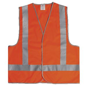 UniSafe Hi-Vis Day and Night Safety Vest Orange XXL