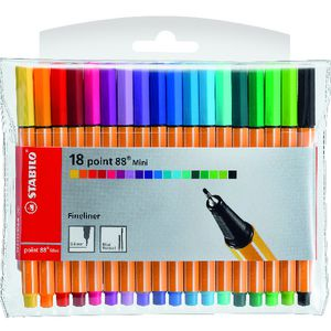 Stabilo Point 88 Mini Fineliners Assorted 18 Pack