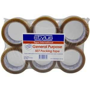 Stylus General Purpose Packing Tape Clear 6 Pack