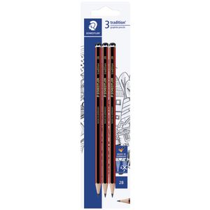 Staedtler Tradition Pencils 2B 3 Pack