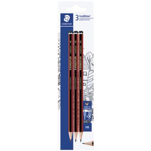 Staedtler Tradition Graphite Pencils HB 3 Pack