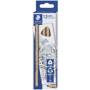 Staedtler Natural Jumbo Triangular Pencil 2B 12 Pack