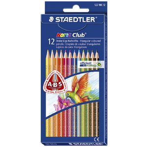 Staedtler Noris Club Triangular Coloured Pencils 12 Pack