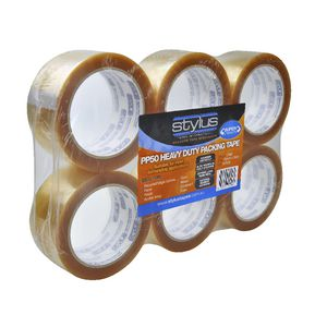 Stylus Heavy Duty Packaging Tape Clear 6 Pack