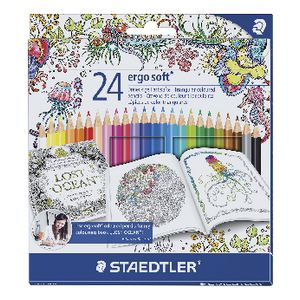 Staedtler Ergo Soft Colour Pencils 24 Pack Printed Design
