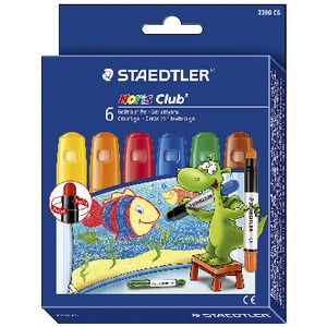 Staedtler Noris Club Gel Crayons 6 Pack