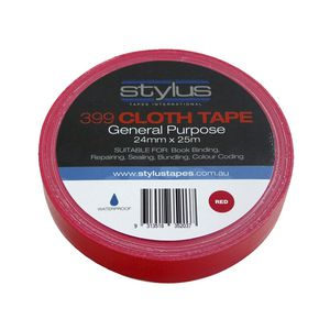 Stylus General Purpose Cloth Tape 24mm x 25m Red