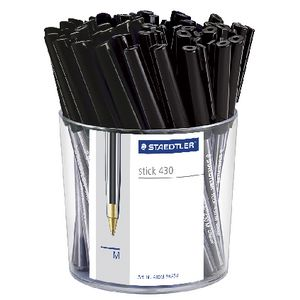 Staedtler Stick 430 Medium Ballpoint Pens Black 50 Pack