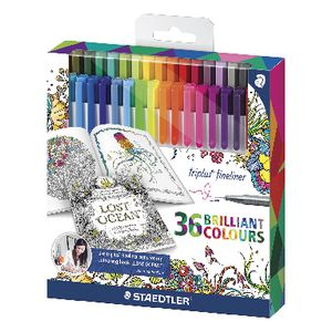 Staedtler Triplus Fineliners Assorted 36 Pack