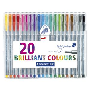Staedtler Triplus 0.3mm Fineliners 334 Assorted 20 Pack