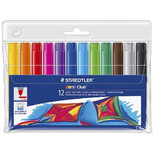 Staedtler Noris Club Jumbo Colouring Markers Pack 12