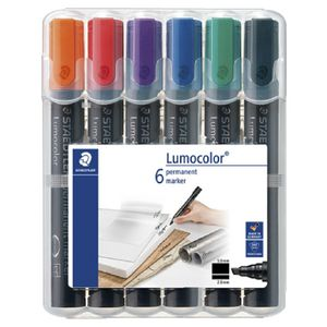 Staedtler Lumocolor Marker Assorted 6 Pack