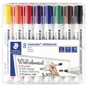 Staedtler 351 Whiteboard Markers Assorted 8 Pack