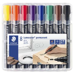 Staedtler 352 Permanent Markers Assorted 8 Pack
