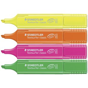 Staedtler Textsurfer Classic Highlighters Assorted 4 Pack