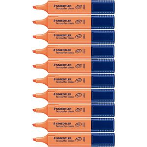 Staedtler Textsurfer Highlighter Orange 10 Pack