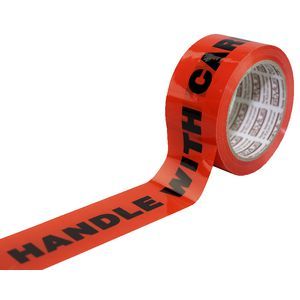 Stylus 48mm x 66m Packaging Tape Handle with Care Fluro
