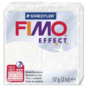 Staedtler FIMO Effect Modelling Clay Glitter White 57g