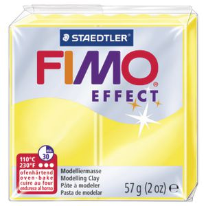 Staedtler FIMO Effect Modelling Clay Translucent Yellow 57g