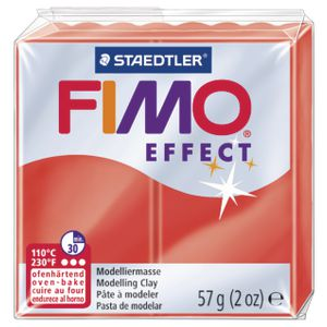 Staedtler FIMO Effect Modelling Clay Translucent Red 57g