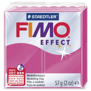 Staedtler FIMO Effect Modelling Clay Gemstone Ruby Quartz 57g
