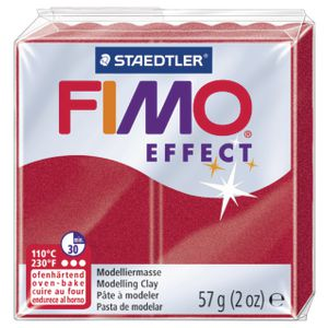 Staedtler FIMO Effect Modelling Clay Metallic Ruby Red 57g